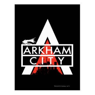 Arkham City Logo White Postcard