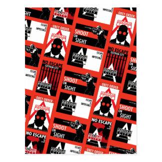 Arkham City Propaganda Pattern Postcard