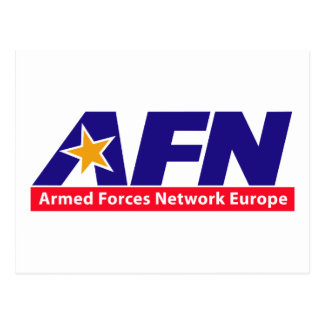 Armed Forces Network Europe Postcard