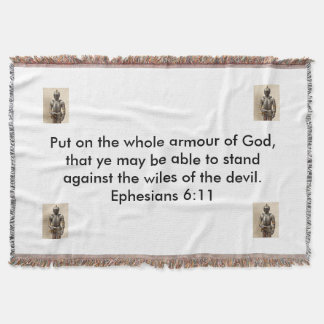 Armour of God Horizontal Throw Blanket w/Armour