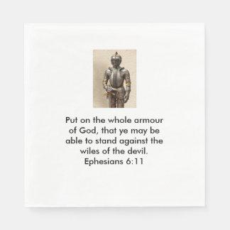 Armour of God Napkins w/Armour Disposable Napkin