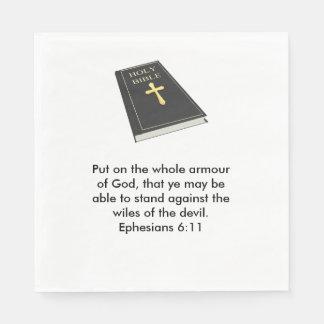 Armour of God Napkins w/Bible Disposable Napkin