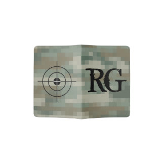 Army pixel camouflage monogram passport holder