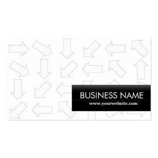 Arrow Pattern System Analyst Business Card
