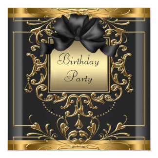 Art Deco Birthday Party 13 Cm X 13 Cm Square Invitation Card