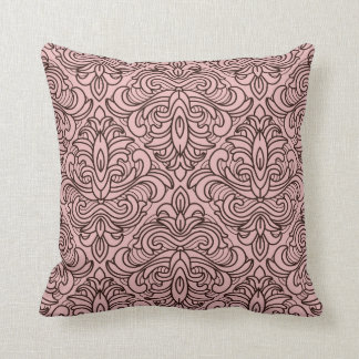 Art Deco Brown on Pink Throw Cushion