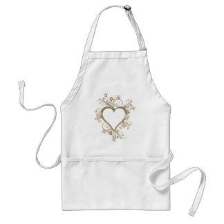 Art Deco Heart Standard Apron