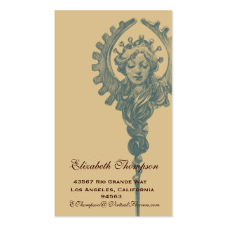 Art Nouveau Beauty Business or Name Card Pack Of Standard Business Cards