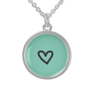 Art Sterling Silver Round Necklace
