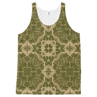 Art vintage damask pattern All-Over print tank top
