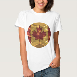 Artistic Canadian Map and MapleLeaf Tshirts