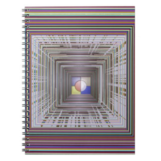ARTISTIC Cosmic Infinity ART Light end of Tunnel Spiral Note Books
