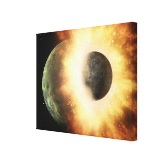 Artist's concept of a celestial body stretched canvas prints