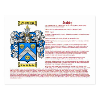 Ashby (meaning) postcard