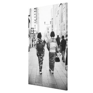 Asia, Japan, Tokyo. Geishas on the Ginza. Canvas Prints