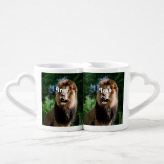 Asiatic Lion of Iran Couple Mugs