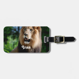 Asiatic Lion of Iran Luggage Tags