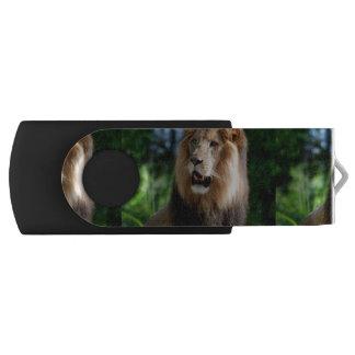 Asiatic Lion of Iran Swivel USB 2.0 Flash Drive