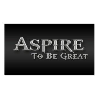 Aspire Inspirational Sleek Metallic Business Cards