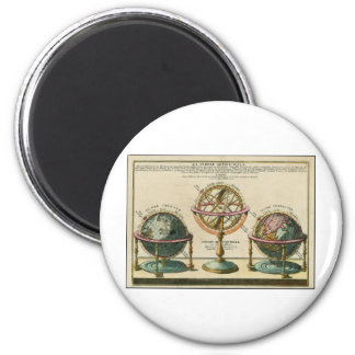 Astronomer's ancient object, the armillary sphere 6 cm round magnet