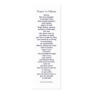 Athena Prayer Card Pack Of Skinny Business Cards