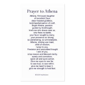 Athena Prayer Card Pack Of Standard Business Cards
