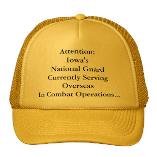 Attention:Iowa's National GuardCurrently Servin... Cap