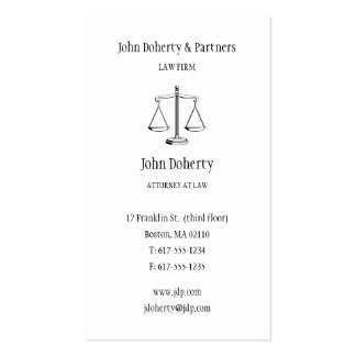 Attorney at Law - Classic Business Card