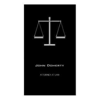 ATTORNEY AT LAW | Elegant Black Pack Of Standard Business Cards