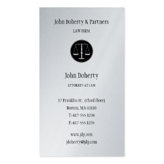 Attorney at Law - Elegant Business Card