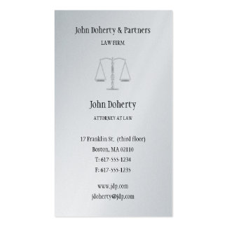 Attorney at Law - Plain Business Card