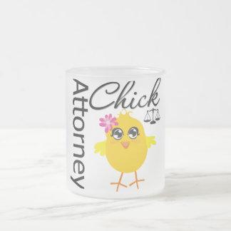 Attorney Chick v1 Frosted Glass Mug