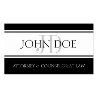 Attorney D Stripe W/W Pack Of Standard Business Cards