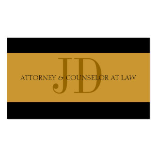 Attorney Gold/Gold - Available Letterhead - Pack Of Standard Business Cards