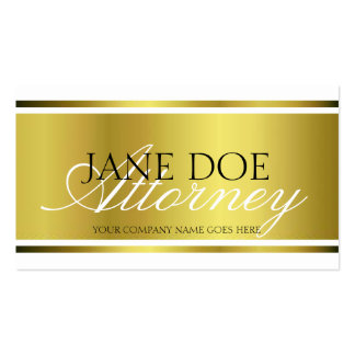 Attorney Gold Metallic Script Pack Of Standard Business Cards