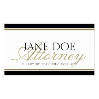 Attorney Gold Script Pack Of Standard Business Cards