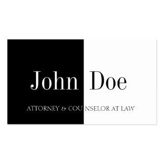 Attorney Half/Half B/W Pack Of Standard Business Cards