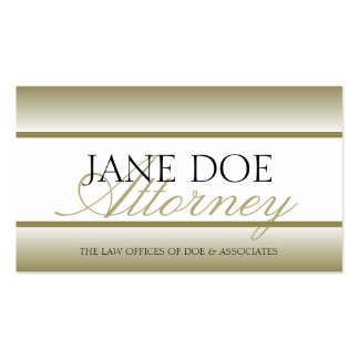 Attorney Lawyer Gold Fade - Available Letterhead - Pack Of Standard Business Cards