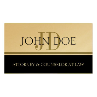 Attorney Lawyer Gold Stripe -Available Letterhead- Pack Of Standard Business Cards