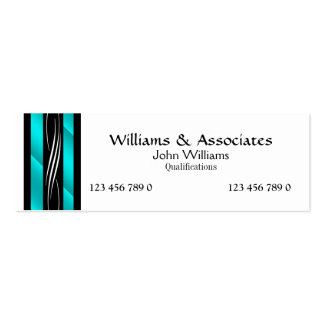 Attorney Lawyer monogram aqua turquoise Pack Of Skinny Business Cards