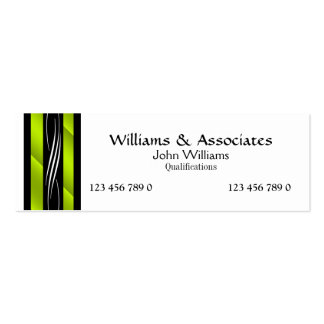 Attorney Lawyer monogram green Pack Of Skinny Business Cards