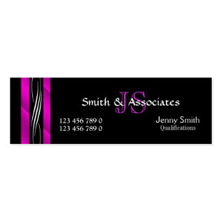 Attorney Lawyer monogram pink black Pack Of Skinny Business Cards