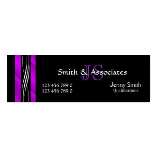 Attorney Lawyer monogram purple Pack Of Skinny Business Cards