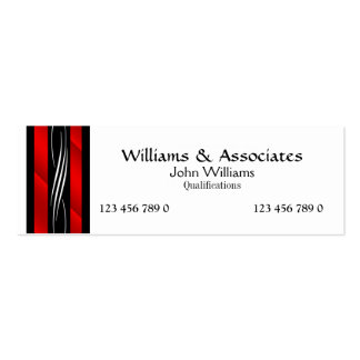 Attorney Lawyer monogram red Pack Of Skinny Business Cards