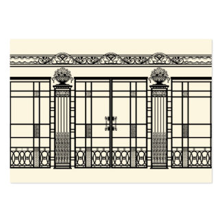 AUDREY'S ART DECO IRONWORK: ELEGANT BLACK & CREAM PACK OF CHUBBY BUSINESS CARDS