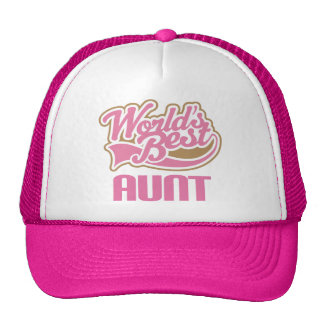 Aunt Gift Cute Worlds Best Slogan Cap