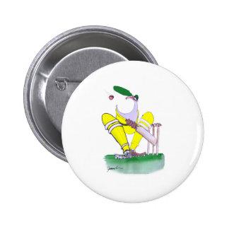 aussie big mouth, tony fernandes 6 cm round badge