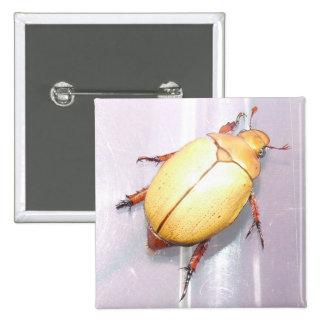 Aussie Christmas Beetle Badge. 15 Cm Square Badge