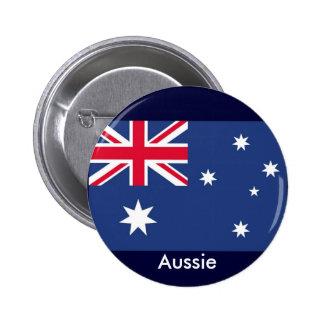 Aussie flag 6 cm round badge