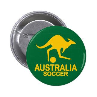 Aussie soccer yellow 6 cm round badge